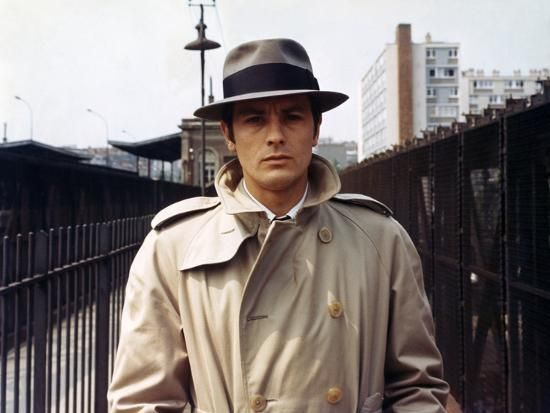 Alain Delon nel film Le Samourai 1967