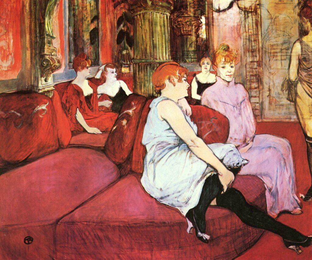 Au Salon de la rue des Moulins Henri Toulouse Lautrec