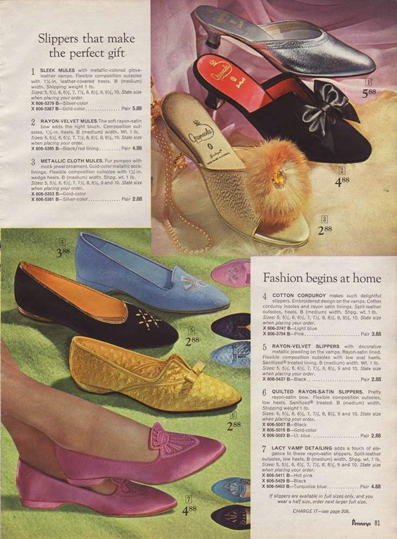 Catalogo ciabattine 60s