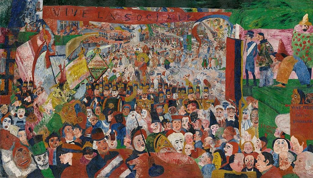 James Ensor Entrata di Cristo a Bruxelles 1889