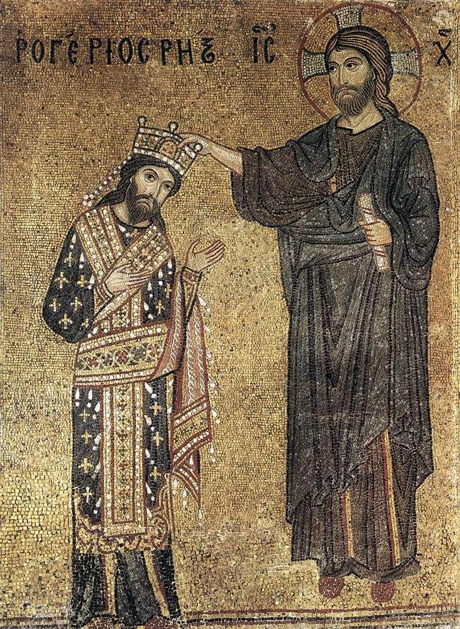 Incoronazione di Ruggero II Mosaico