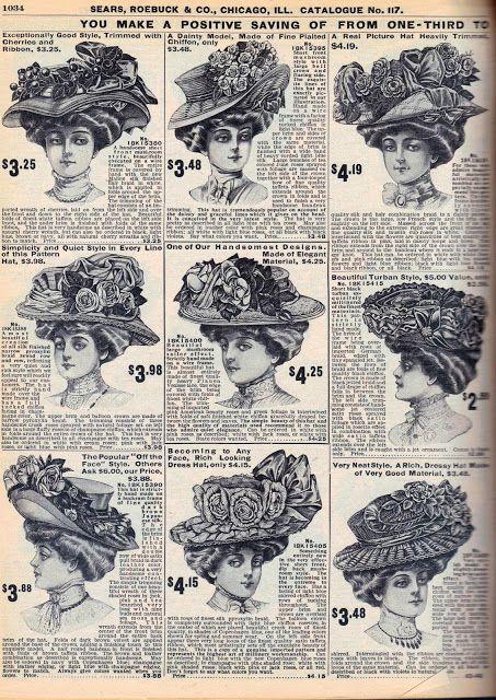 Cappelli con fiori 1908